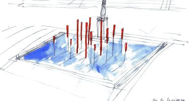 Fata Morgana / La fonte sospesa. Installazione scultorea di Alberto Timossi, acura di Marcello Barbanera. Inaugurazione alle 11 presso la Fontana della Minerva, Sapienza Università di Roma.