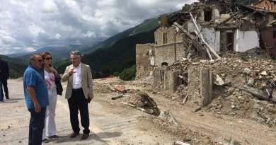Questa mattina una delegazione Ue ha visitato Arquata del Tronto, e ha elogiato l'operato della Protezione Civile nazionale e regionale.