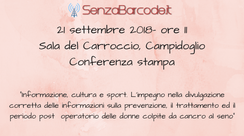 Informazione, cultura e sport. L'impegno nella divulgazione corretta delle informazioni sulla prevenzione, il trattamento ed il periodo post operatorio nelle donne colpite da cancro al seno.