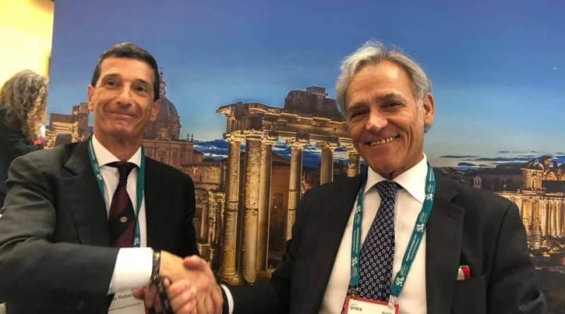 Fiera Roma e Convention Bureau Roma e Lazio. Ottengono il Global CEO Summit UFI nella Capitale. Pietro Piccinetti e Onorio Rebecchini.