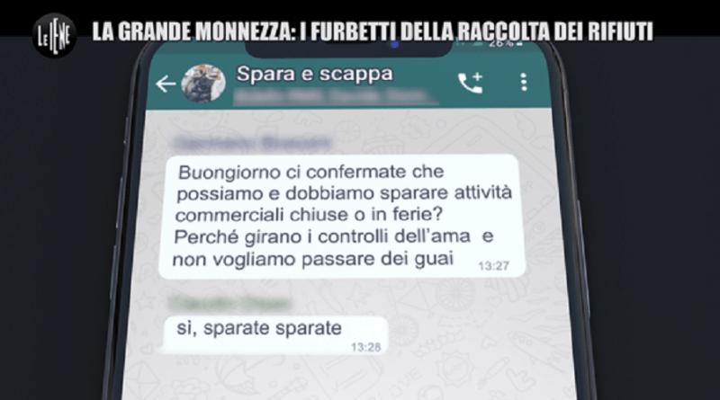 """Spara e scappa, è il nome della chat che alcuni dirigenti della Roma Multiservizi: """"dobbiamo """"badgiare"""" veloci senza raccogliere i rifiuti…""""."""