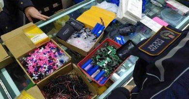 Blitz della Polizia Locale nei negozi dell'Esquilino: sequestrati 17.000 articoli, molti destinati alla vendita illegale nel Centro Storico. Rinvenuti giocattoli e dispositivi elettronici pericolosi