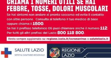 Parte la campagna d'informazione della Regione Lazio sul Coronavirus che verrà diffusa nei prossimi giorni su social, stampa quotidiana e affissa in tutto il territorio della Regione Lazio, per illustrare ai cittadini quali misure assumere per contenere la diffusione del virus.