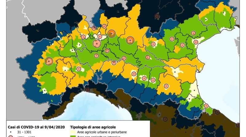 Nelle aree dove resistono sistemi di agricoltura tradizionale si registrano una minore diffusione del virus: dai 9 ai 594 casi in media.
