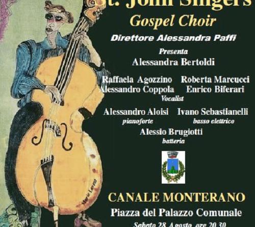 St John's Singers: concerti per i 30 anni il 22 agosto a Manziana il 28 agosto a Canale Monterano. Ingresso gratuito per i due appuntamenti che celebrano tre decenni d'attività.