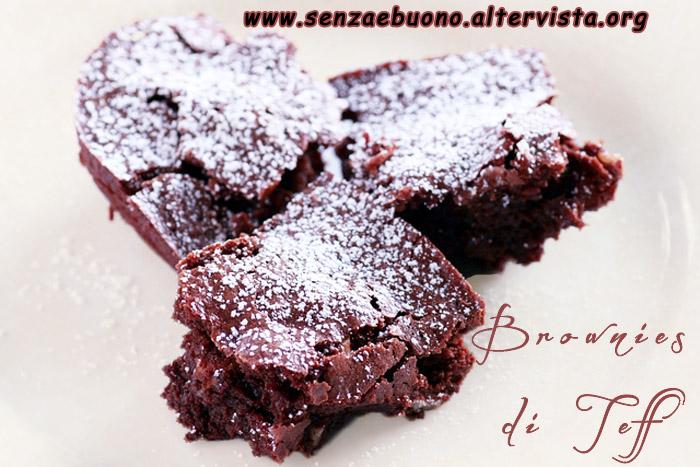 Brownies di teff senza glutine