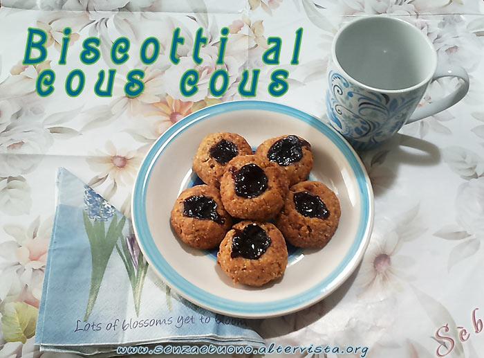 Biscotti senza glutine e vegan al cous cous