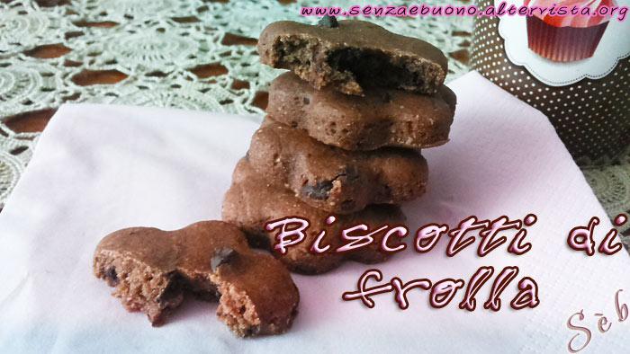 Biscotti di frolla senza glutine e vegan