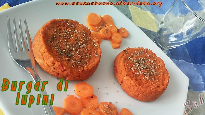 Burger di lupini con origano e pomodoro