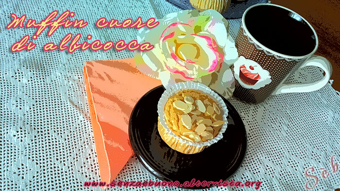 Muffin cuore di albicocca vegan e gluten free