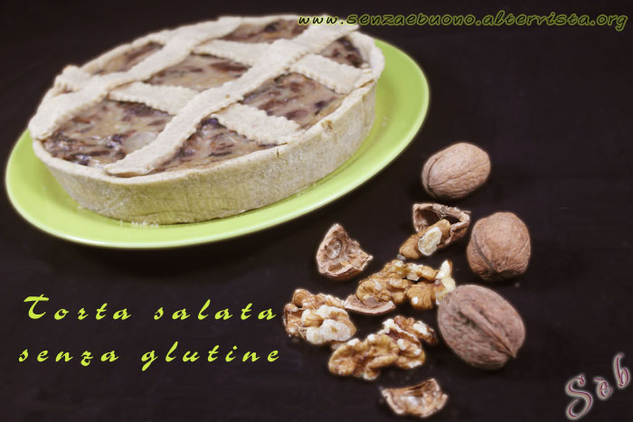 Torta salata senza glutine e vegan