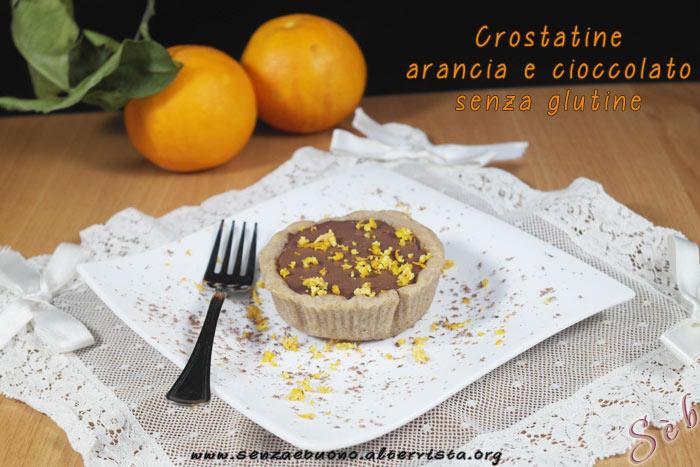 Crostatine arancia e cioccolato senza glutine e vegan