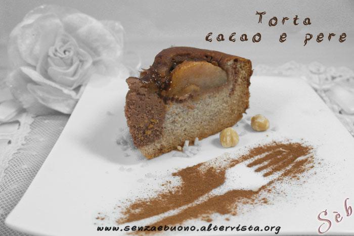 Torta cacao e pere