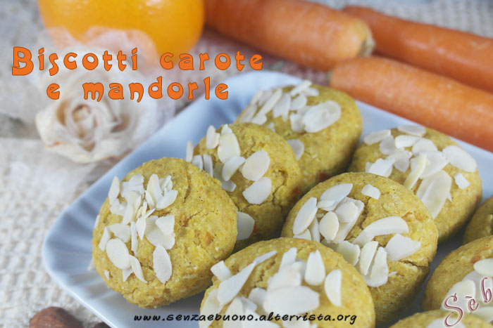 Biscotti carote e mandorle