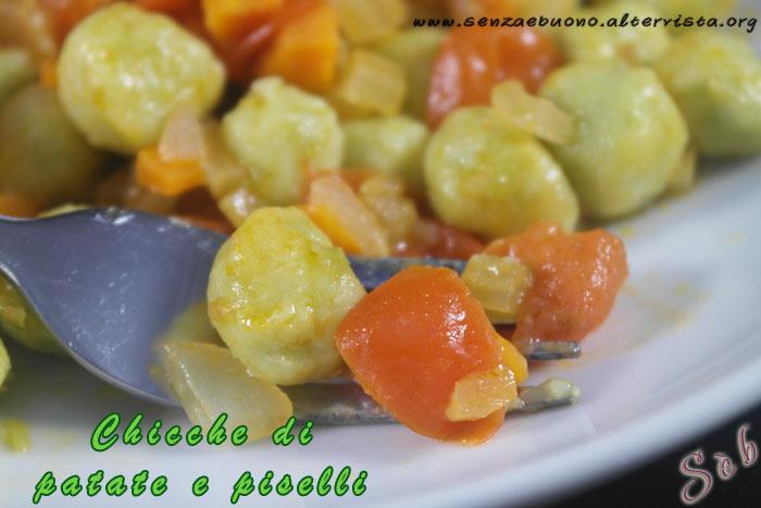 Chicche di patate e piselli
