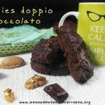 Cookies al doppio cioccolato vegan senza glutine