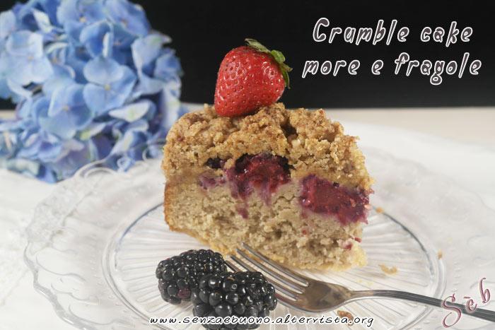 Crumble cake more e fragole