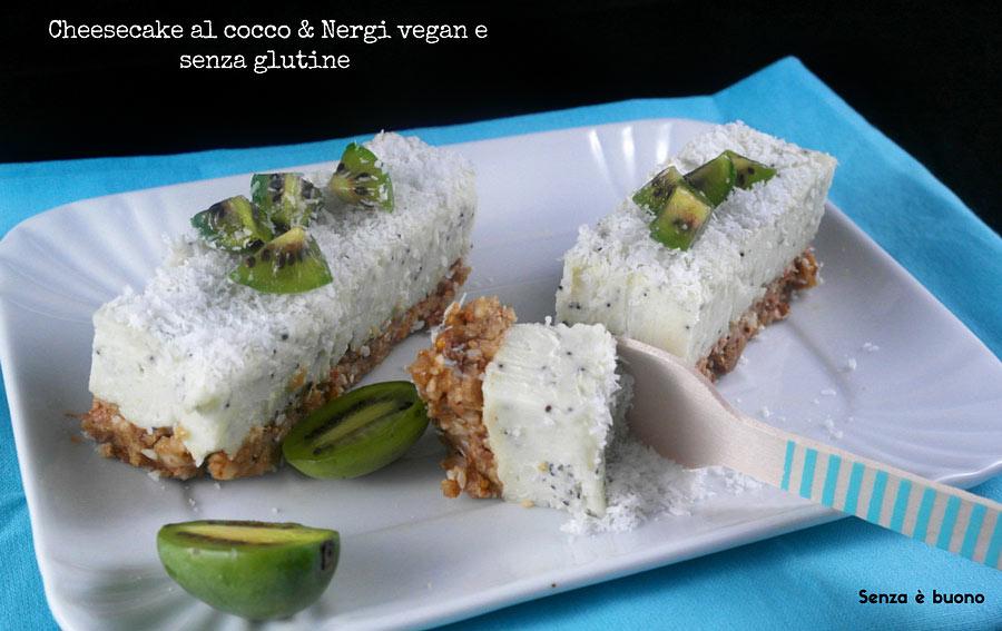 Cheesecake al cocco e Nergi vegan senza glutine