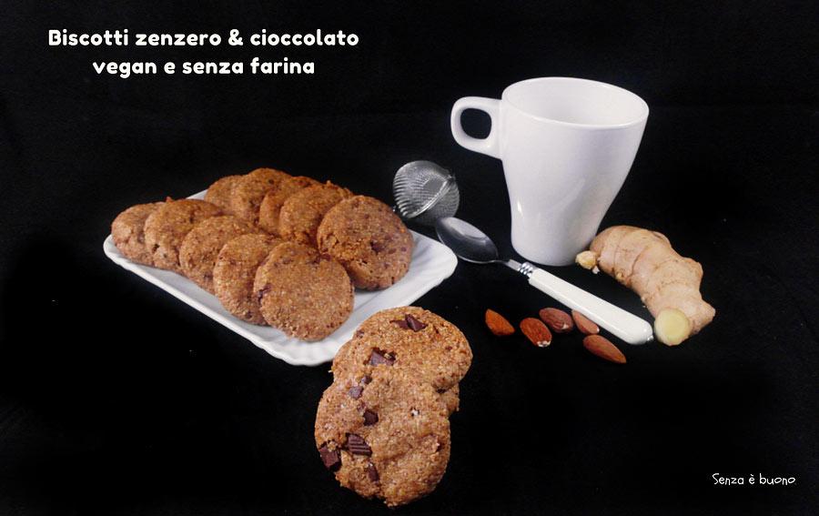 Biscotti zenzero e cioccolato