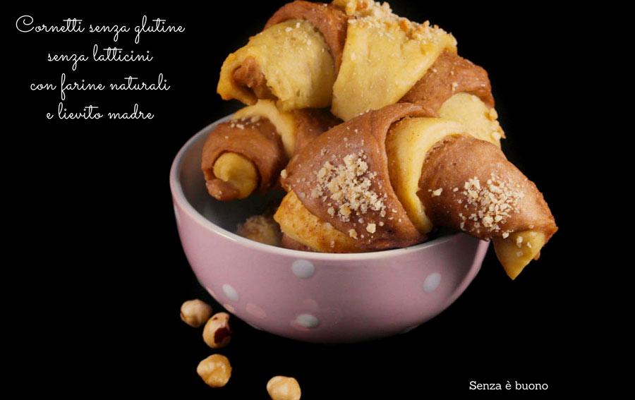 Cornetti senza glutine e senza latticini
