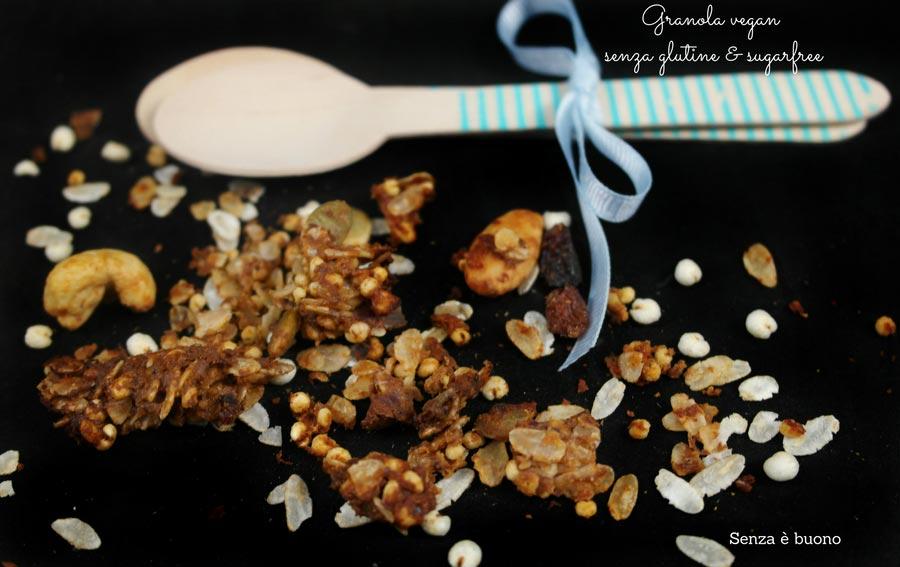 Granola vegan, senza glutine e sugarfree