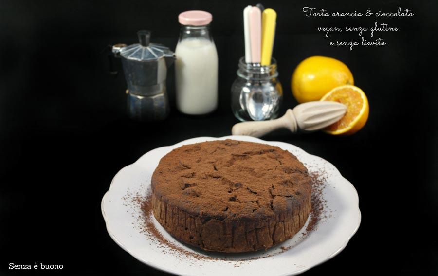 Torta arancia e cioccolato vegan senza glutine