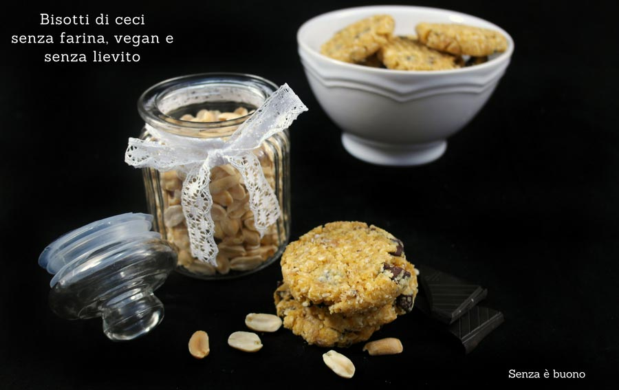 Biscotti di ceci vegan senza glutine