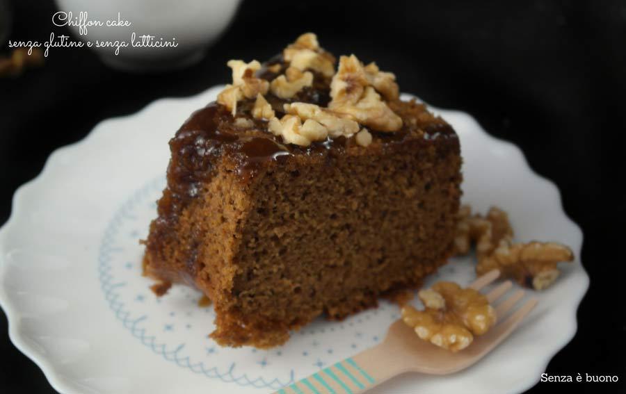 Chiffon cake senza glutine e senza latticini