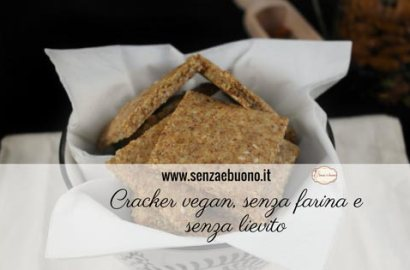 Cracker vegan senza farina