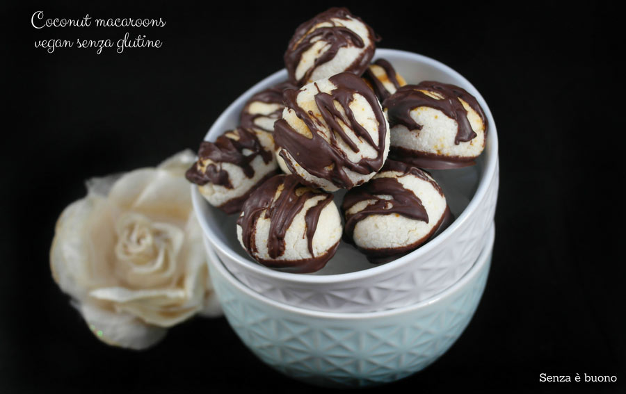 Coconut macaroons vegan senza glutine