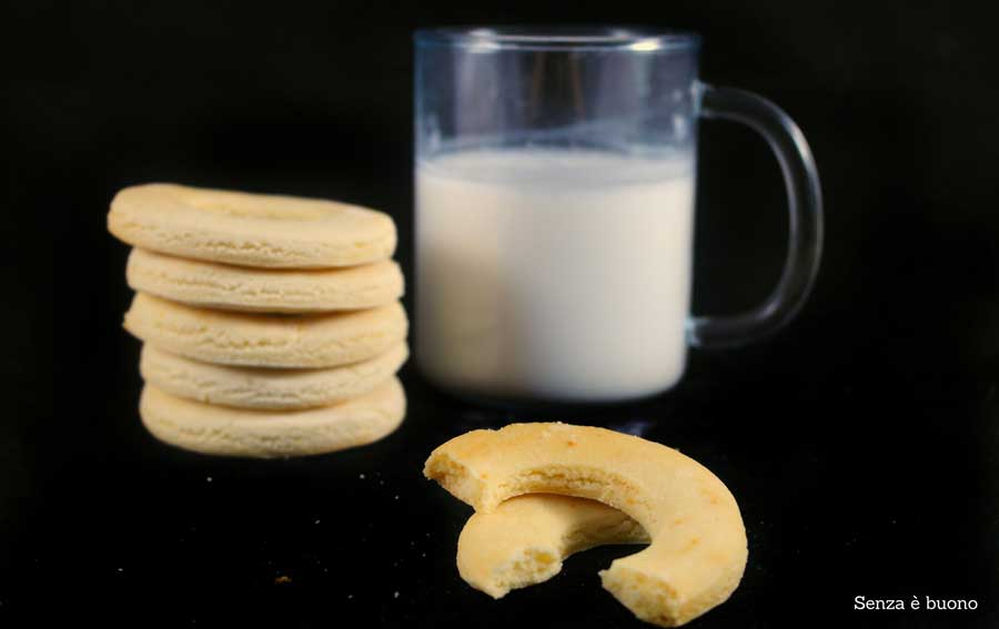 Biscotti panna e miele senza glutine e senza latticini