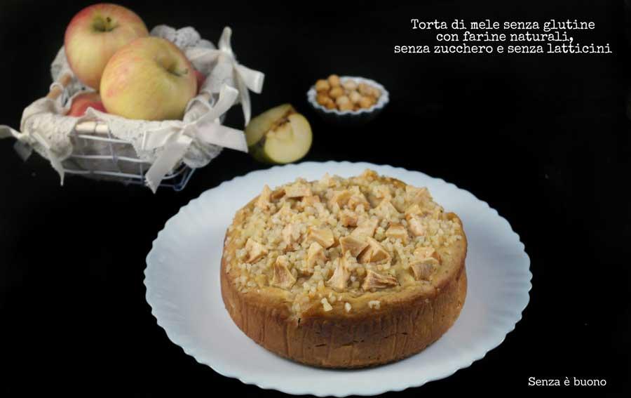 Torta di mele senza zucchero, senza glutine e senza latticini