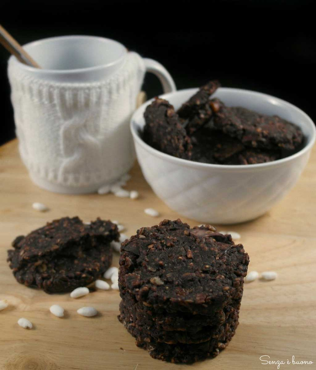 Biscotti ai cereali vegan, senza glutine, sugarfree