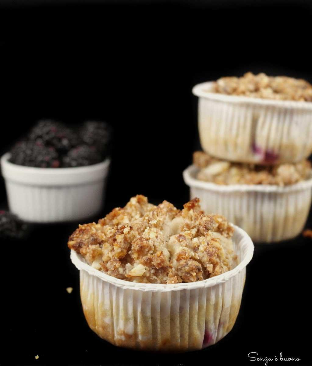 Muffin alle more senza glutine, senza latticini e senza zucchero