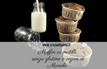 Muffin ai mirtilli senza glutine vegan