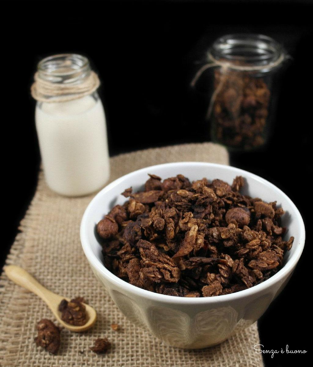 Ricetta granola croccante cocco cacao senza glutine e vegan