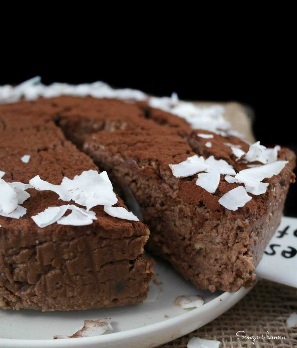 Torta di cous cous senza glutine, vegan e low carb