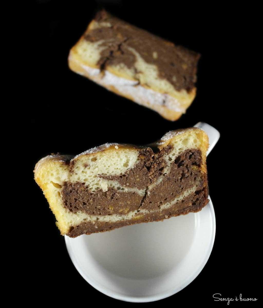 Plumcake senza glutine bianco e nero