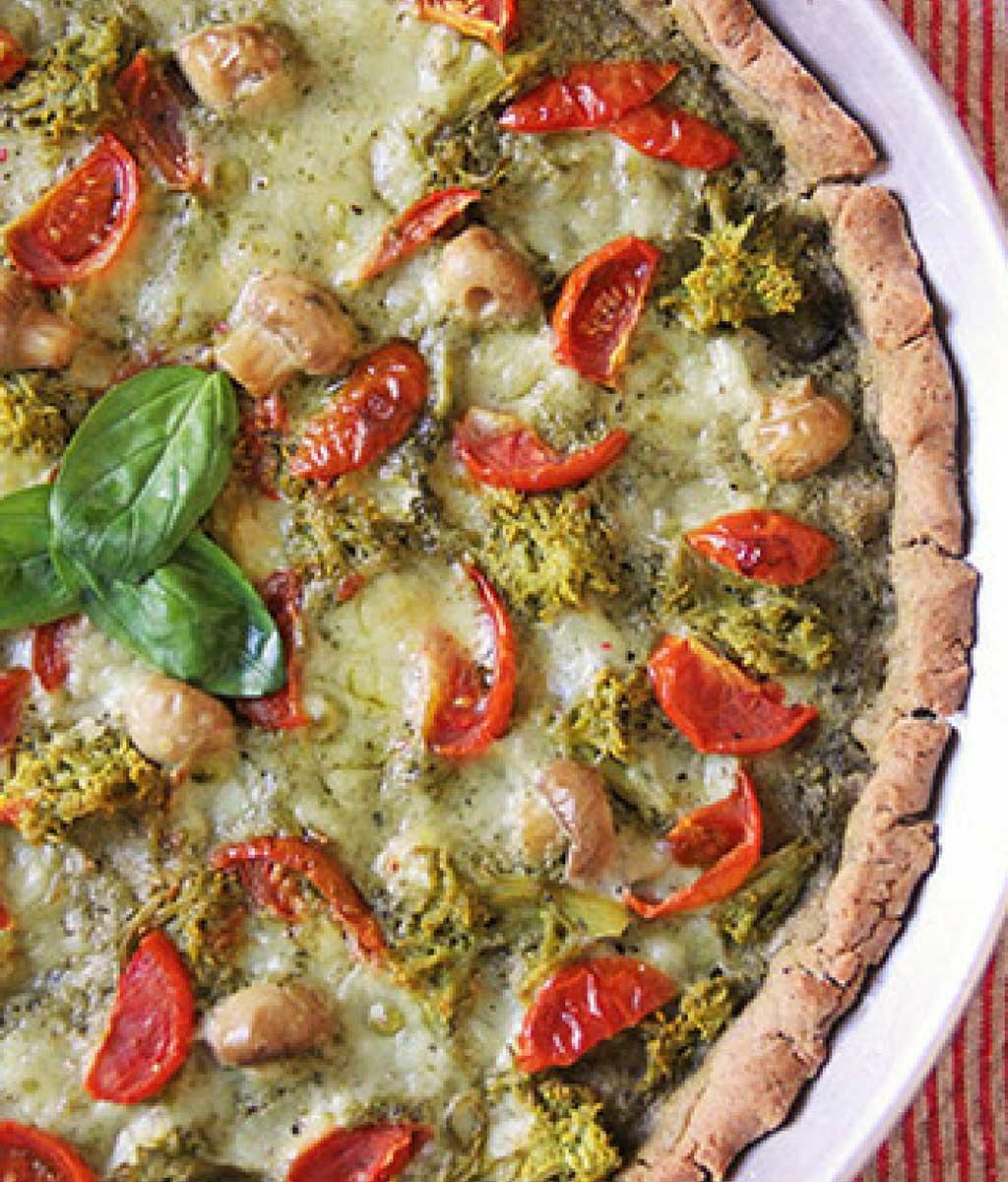 Pizza senza glutine vegan