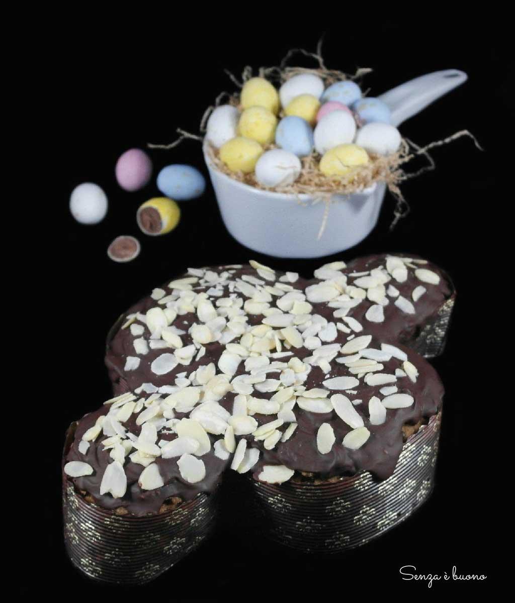Ricetta colomba senza glutine vegan al cioccolato