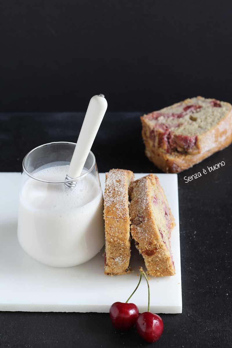 Ricetta plumcake con ciliegie soffice senza glutine