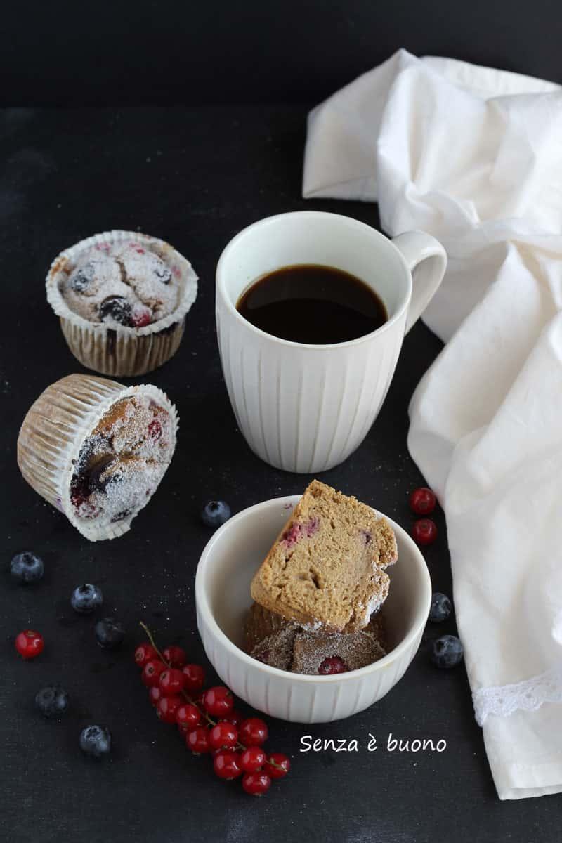 Muffin senza glutine allo yogurt vegetale