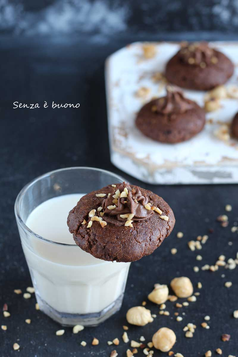 Biscotti alla Nutella home made senza glutine senza burro