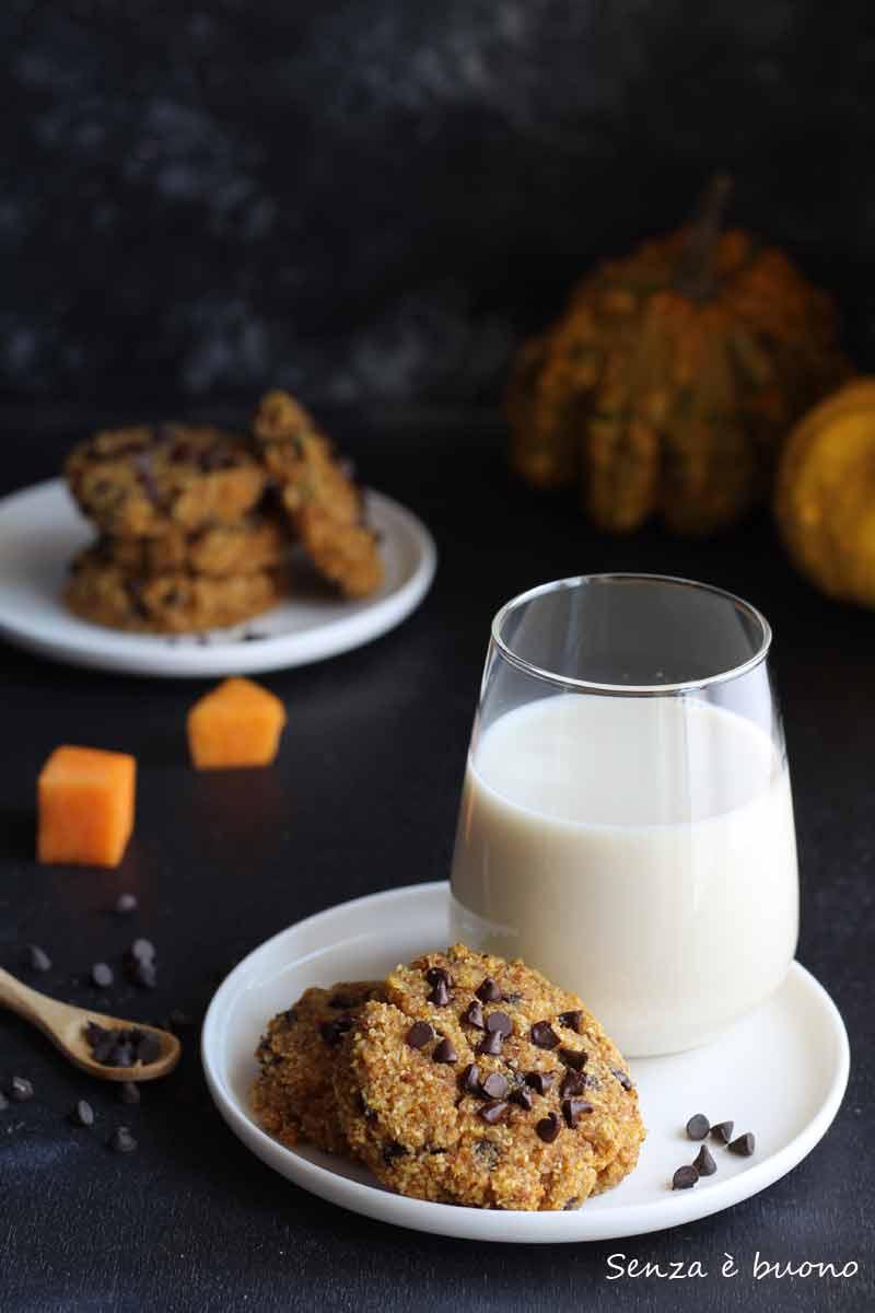Biscotti zucca e cioccolato gluten free