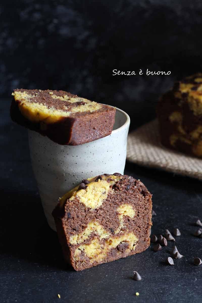 Plumcake zucca e cioccolato senza glutine senza burro ricetta