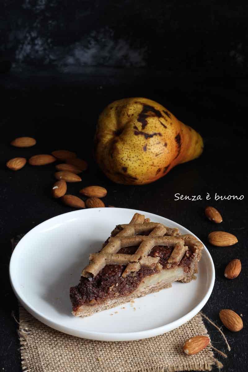 Crostata senza glutine vegan pere e cioccolato