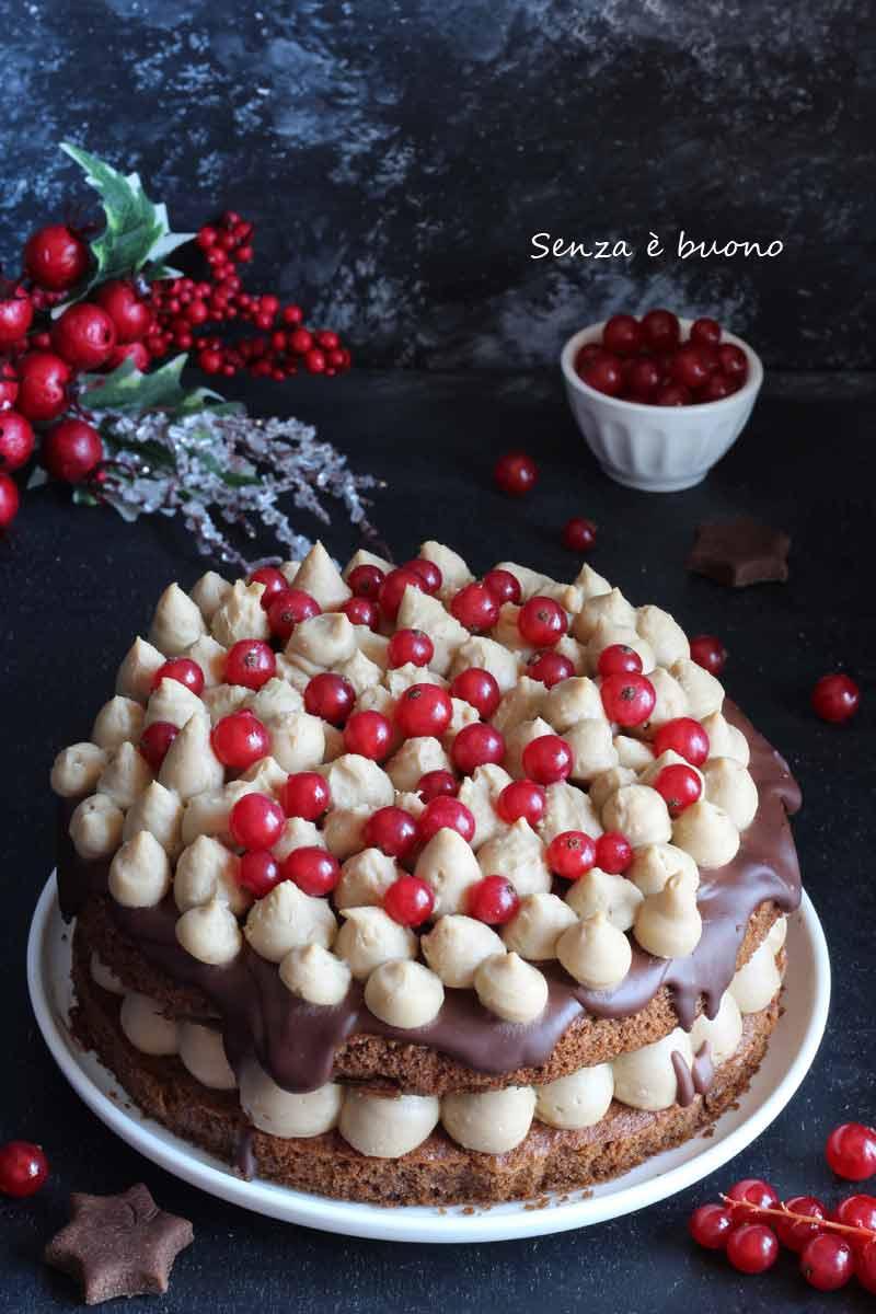 naked cake senza glutine per Natale