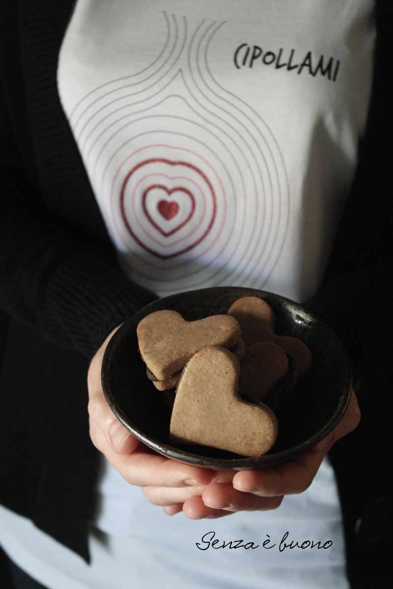 Biscotti nocciola cacao senza glutine vegan