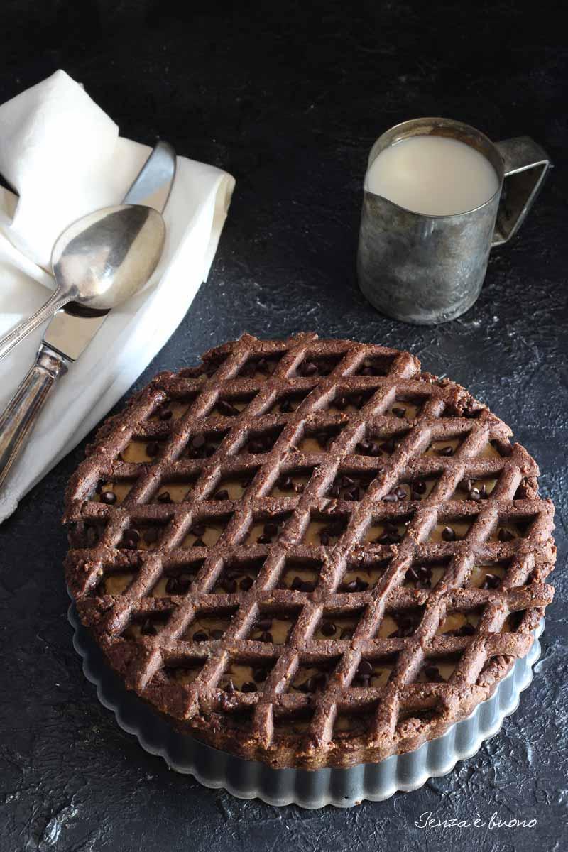 ricetta crostata vegan con crema al burro di arachidi