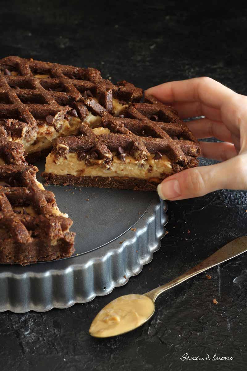 ricetta crostata al cacao con frolla vegan senza glutine